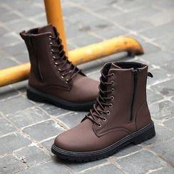 COUSO - 仿皮中筒靴