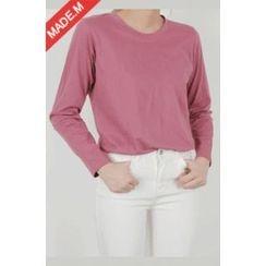 MICHYEORA - Crew-Neck Long-Sleeve T-Shirt