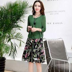 NINETTE - Set: Blouse + Printed Skirt