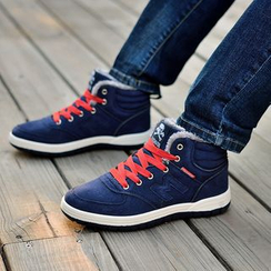COUSO - Fleece Lined Lace Up High Top Sneakers