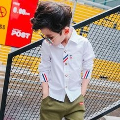 Pegasus - Kids Ribbon Trim Long-Sleeve Shirt