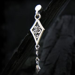 Sterlingworth - Tinted Sterling Silver Arrowhead Single Earring