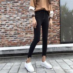 OGAWA - 窄身八分牛仔裤