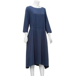 Diosa - Long Sleeve Linen A-Line Dress