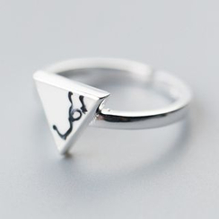 A'ROCH - 925 Sterling Silver Triangle Ring