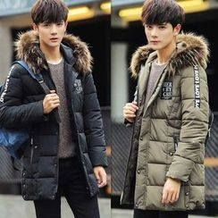 Rory Jerry - Furry Hooded Down Coat
