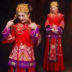 Cypress - Embroidered Wedding Cheongsam
