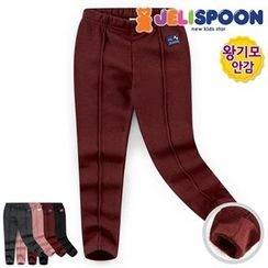 JELISPOON - Kids Seam-Detail Fleece-Lined Leggings