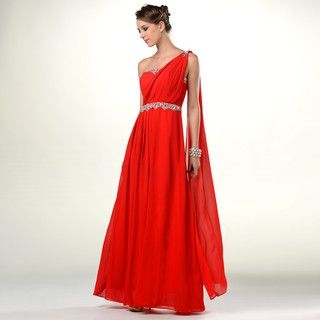 YesStyle Dress - Draped One-ShoulderJeweled Evening Gown