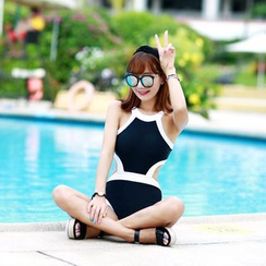 Rachel Swimwear - Color-Block Cutout Swimsuit