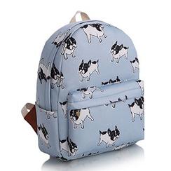 YUNA - Dog Print Canvas Backpack