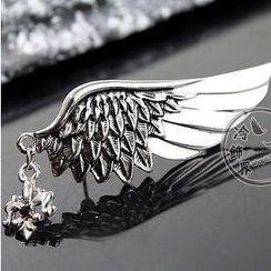 潮野 - 水鑽翅膀胸針