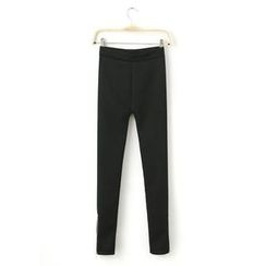 JVL - Fleece-Lined Zipped-Hem Leggings