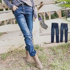 RingBear - Straight Fit Washed Jeans