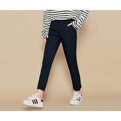 HOTPING - Flat-Front Dress Pants