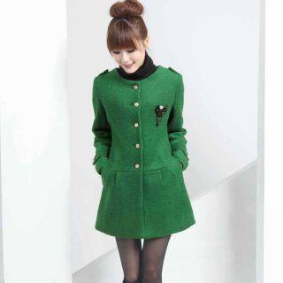 Mooiee - Pleated Epaulet Coat