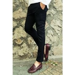 Ohkkage - Band-Waist Dress Pants
