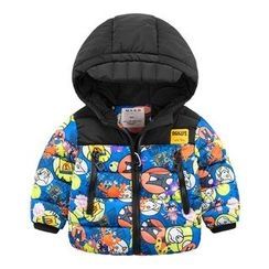 DEARIE - Kids Printed Hooded Padded Jacket