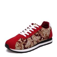 EnllerviiD - Faux-Leather Printed Sneakers