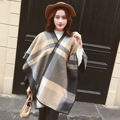 Snow Sheep - Piped Check Scarf
