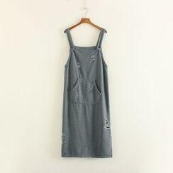 Mushi - Ripped Pinafore Dress