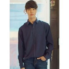 JOGUNSHOP - Long-Sleeve Pinstriped Shirt