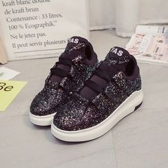 Tina Nini - Glitter Platform Sneakers