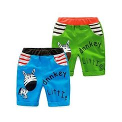 WellKids - Kids Applique Paneled Cropped Pants