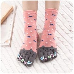 默默愛 - 印花襪