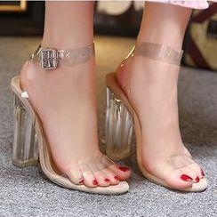 Monde - High Heel Ankle Strap Sandals