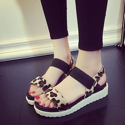 Ginko - Platform Wedge Sandals