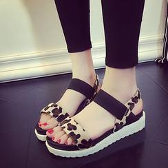 Ginko - 厚底船跟凉鞋