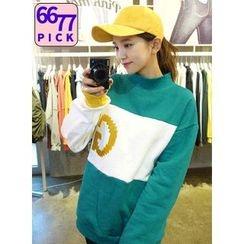 icecream12 - Mock-Neck Oversized Sweatshirt