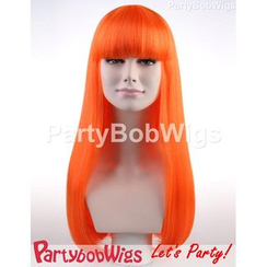 Party Wigs - PartyBobWigs - Party Long Bob Wig - Orange