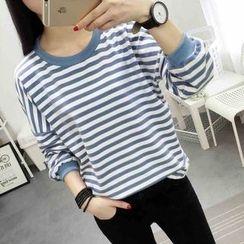 Ukiyo - 条纹长袖T恤
