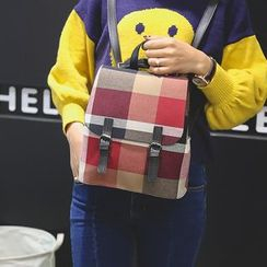 Bam's - Convertible Plaid Mini Backpack