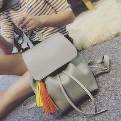 Tasche - Tasseled Drawstring Backpack