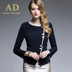 Aision - Side-Button Jacket / Pencil Skirt