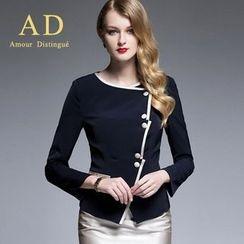 艾尚臣 - 側排扣夾克/鉛筆裙