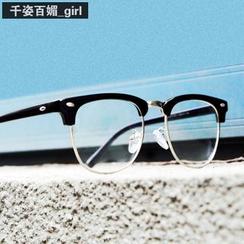 MOL Girl - Retro Semi-Frame Glasses