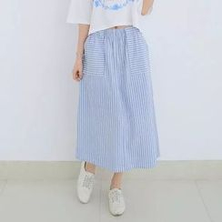 Tangi - Striped Midi Skirt
