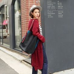 Seoul Fashion - Slit-Side Long Cardigan