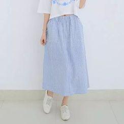 Tangi - Striped Midi Skirt