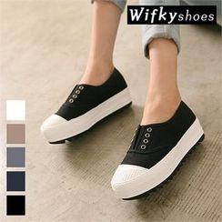Wifky - Toe-Cap Platform Slip-Ons