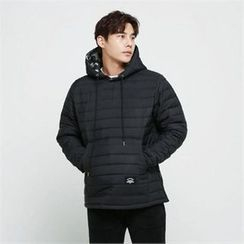 BYMONO - Hooded Kangaroo-Pocket Padded Pullover