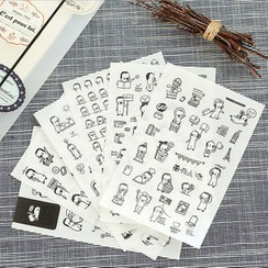 Tivi Boutique - Pack of 6: Bear Stickers