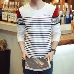 Alvicio - Striped Long Sleeve T-Shirt