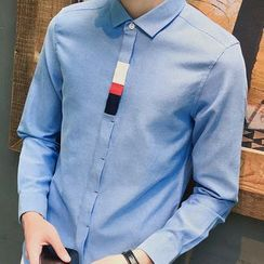 Danjieshi - Colour Block Long-Sleeve Shirt