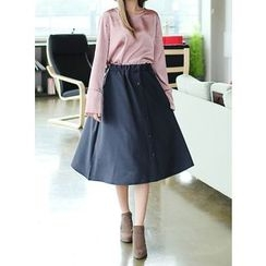 BBAEBBAE - Elastic-Waist A-Line Skirt