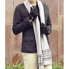 真享 - 千鸟格针织羊毛围巾